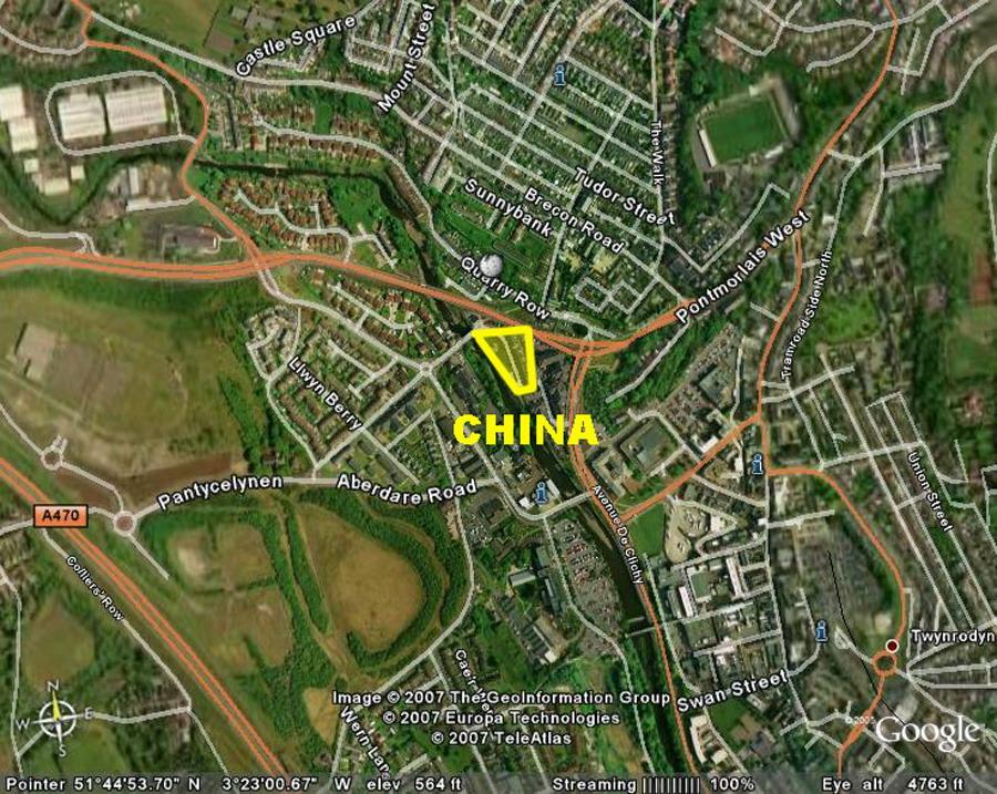 Modern Day China Map.China Merthyr Tydfil