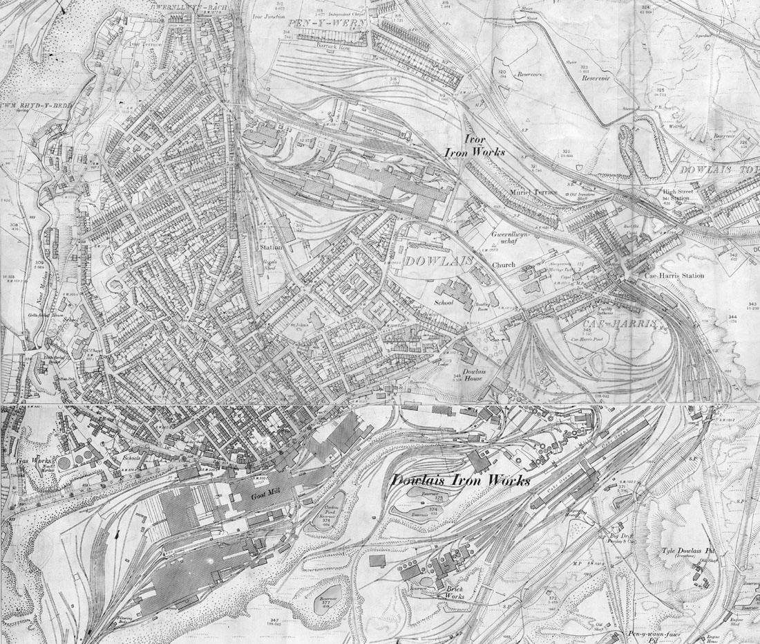 Web Sitemap Page: Dowlais Map Page